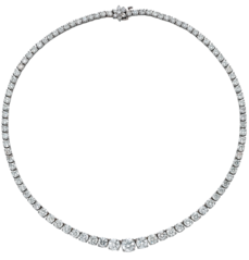 Riviera Necklace, Platinum, 11.71ct