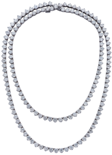 "30"" Mezzanine Necklace, Platinum, 45.6ct"